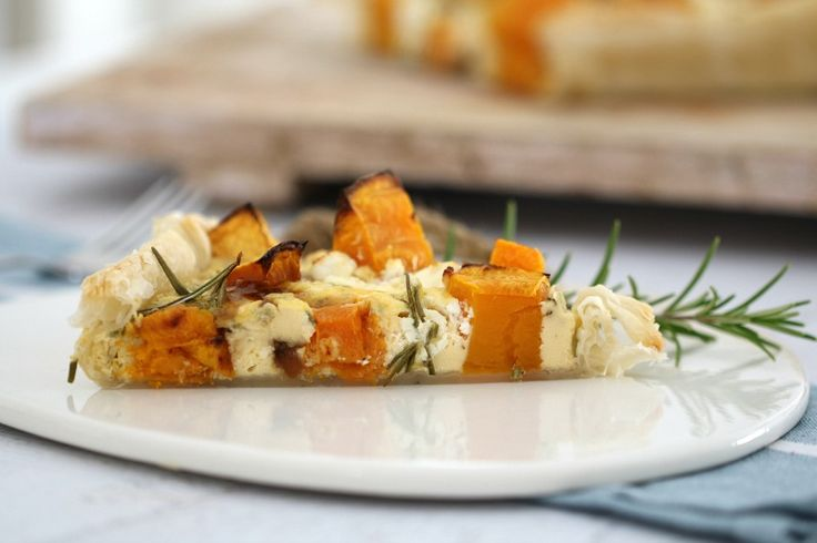 A deliciously simple Thermomix Pumpkin & Feta tart - a great midweek dinner.