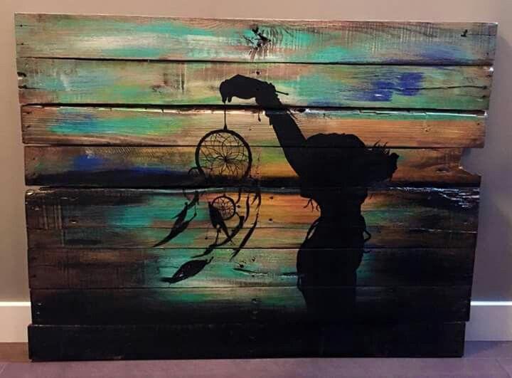 Driftwood canvas art dreamcatcher                                                                                                                                                     More