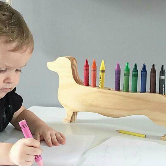 Daschund Crayon Holder by Bear & Sparrow
