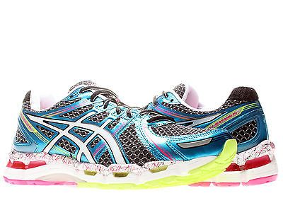 Asics Gel-Kayano 19 Black/White/Pink Womens Running Shoes T392N-9001