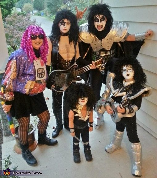 Julie: Each year I create costumes for the whole family which includes my husband (as Gene Simmons this year), our 6.5 year old (as Ace Frehley), our 2.5 year old (as...