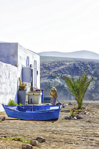 Ajuy, Fuerteventura, Canary Islands - Spain, the only place to spend sunday afternoon, fresh fish wine and the view.