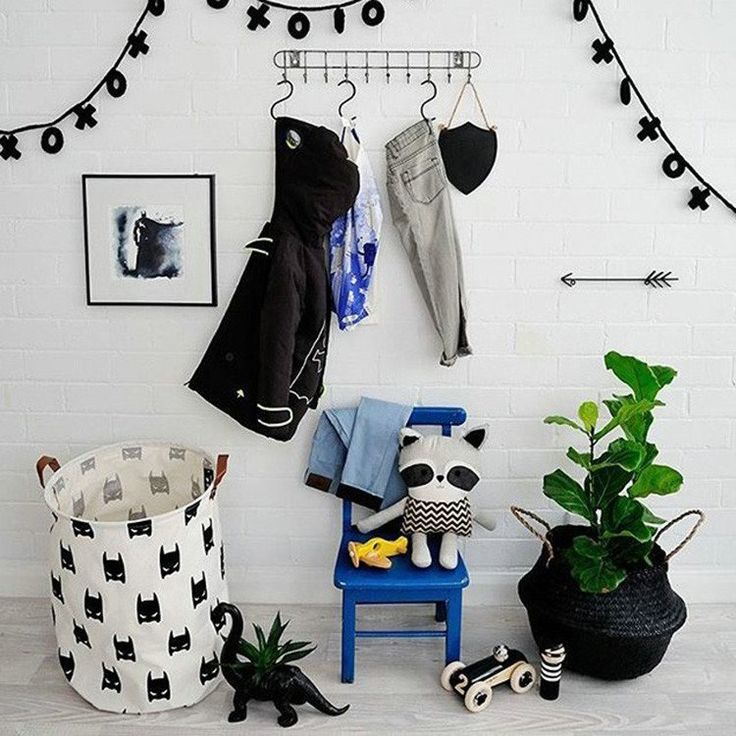 Batman Canvas Storage Bin with Leather Handles – Color Home Happy