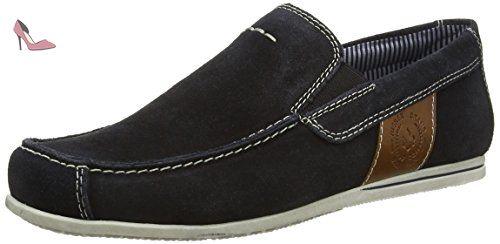 Rieker  09762-14, Mocassins (loafers) homme - Bleu - Blue (Pazifik/Amaretto), 46 EU - Chaussures rieker (*Partner-Link)