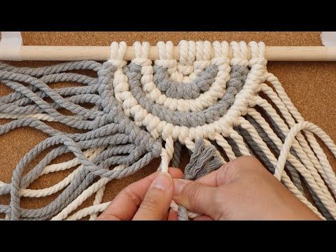 DIY Macrame Wall Hanging / 마크라메 / マクラメ / Макраме / Macramé / Makramee / makrome / ঝালর / म्याक्राम - YouTube