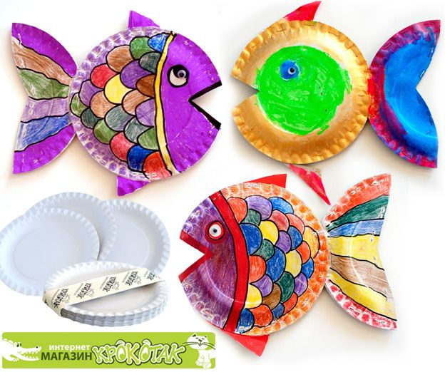 3D Paper plate craft ideas for ocean unit. Not in English, but pictures illustrate how to make these 3D fish.