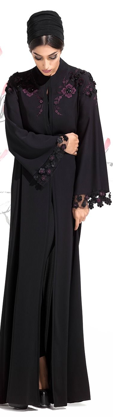 Elegant Black abaya Fall Winter