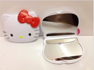 Hello kitty KT head folding compact mirror great for diy bling  | chriszcoolstuff - Craft Supplies on ArtFire