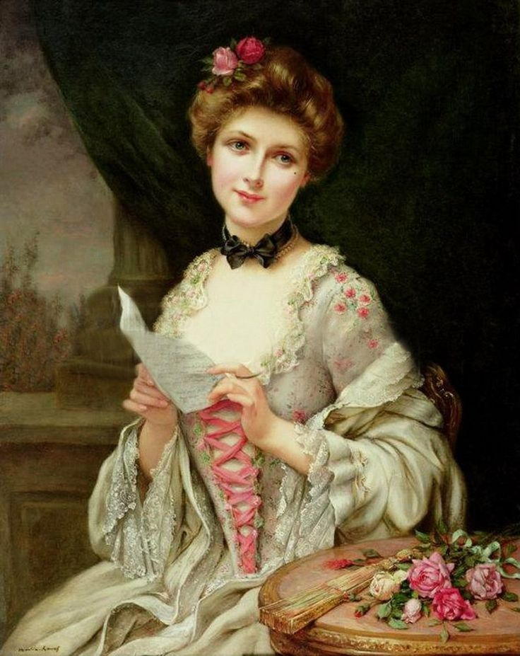 The Love Letter, French Painters: MARTIN-KAVEL François. #classic #art #painting