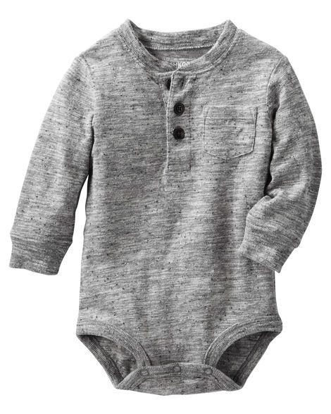 Baby Boy Henley Bodysuit from OshKosh B'gosh. Shop clothing & accessories…