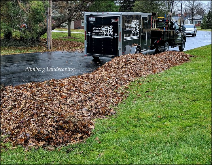 Clear the lawn of fallen leaves Check! Next our leaf
