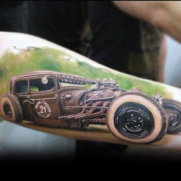 Best 25 hot rod tattoo ideas on pinterest von dutch v8 for Hot rod tattoos