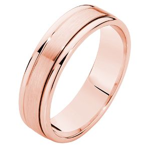 Something different... Gent's Rose Gold Wedding Ring
