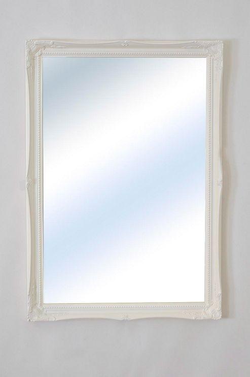 Large Antique Design White Ornate Big Wall Mirror New 2Ft10 X 2Ft 86Cm X 61Cm