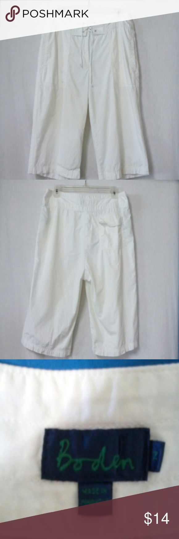 Boden women size 14 Bermuda shorts 3 pockets, front ties boden Shorts Bermudas