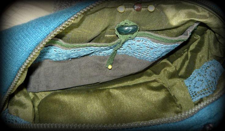 Gyöngyös-kötött kézitáska -Handmade by Judy Majoros