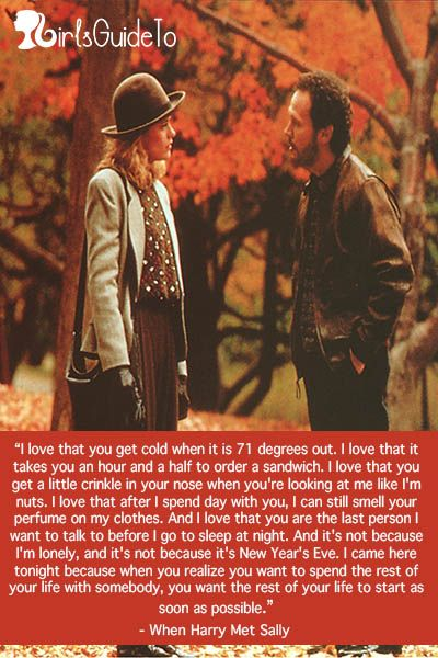 When Harry Met Sally :) brb crying my eyes out because this is so sweet