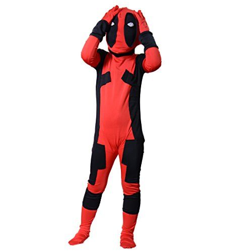 Kids Deadpool Costume Boy Halloween Cosplay Bodysuit Jumpsuits Small ** For more information, visit image link.