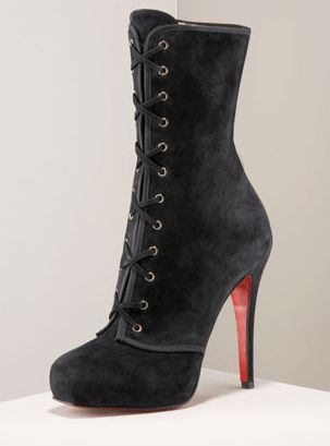 Christian Louboutin: Miss Corset Lace-Up Ankle Boot