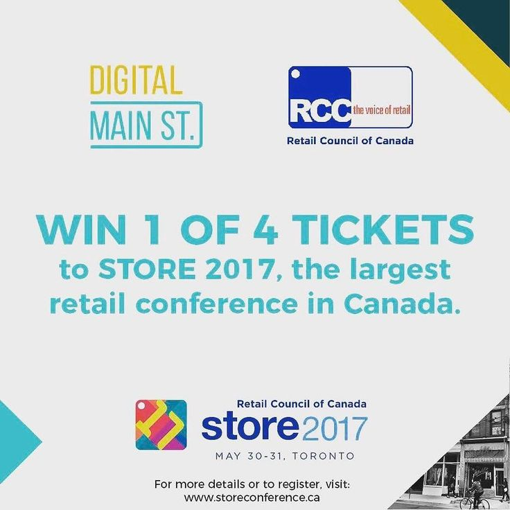 DMS has worked with the RCC to giveaway (4) tickets to STORE 2017 the largest retail conference in Canada. Contest Details All you have to do is follow them on Twitter (@digital_mainst) and Facebook (DigitalMainStreet) by May 22nd and they will be randomly selecting 4 winners.  Good Luck! ---- http://ift.tt/2qF5nI4 . . . #toronto #freebenefit #ecommerce #retailers #twitter #facebook #digitalcity #DigitalMainSt #event #tabia #bias #supportsmallbusiness #torontoclx #retailmatters…