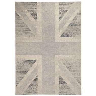 Vloerkleed Union Jack - grijs - 120x170 cm