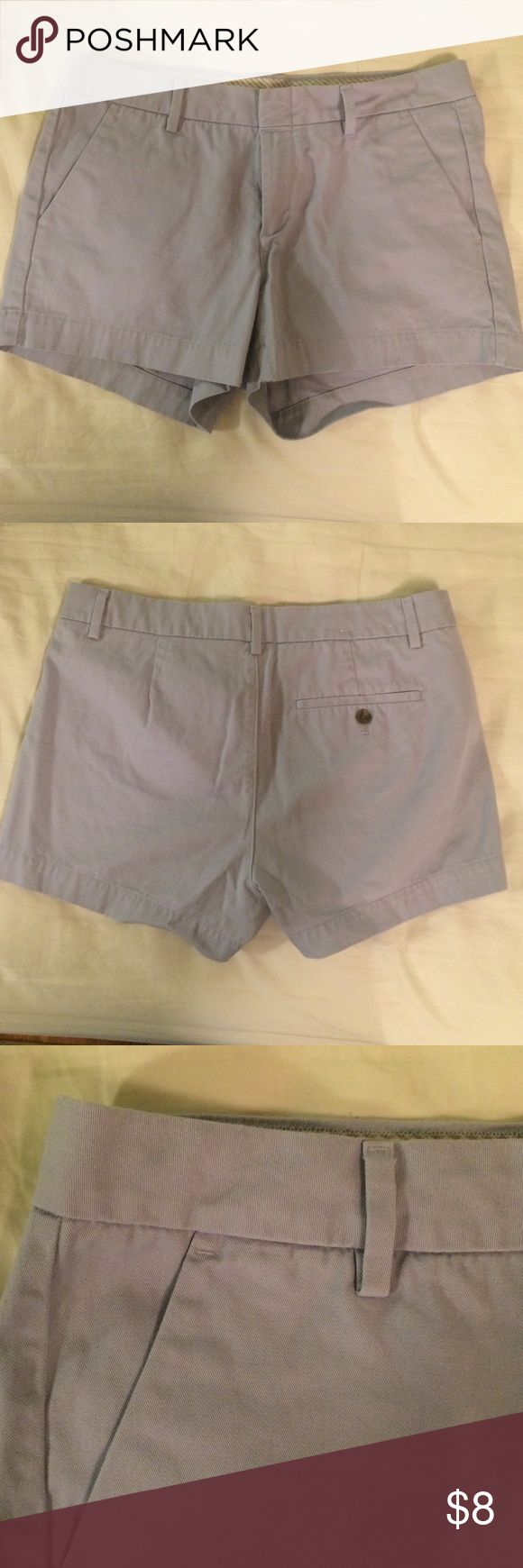 """LAST CHANCE! Uniqlo Light Blue Shorts Donating soon! Uniqlo shorts, size 6 (might fit a bit smaller than that though), 3"""" inseam. Color is powder blue/very light faded indigo. EUC: worn less than a handful of times, but too small for me now. Priced to sell quickly, and reasonable offers welcome! Also selling in an olive color; bundle and save! UNIQLO Shorts"""