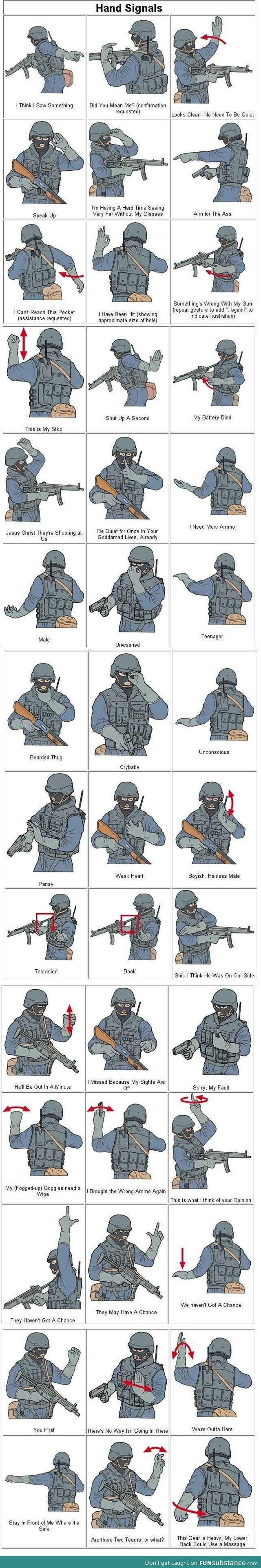 Military sign language