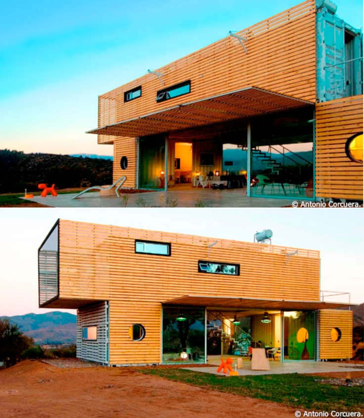 Manifesto House in Chille created using shipping containers  #shippingcontainers #house #architecture
