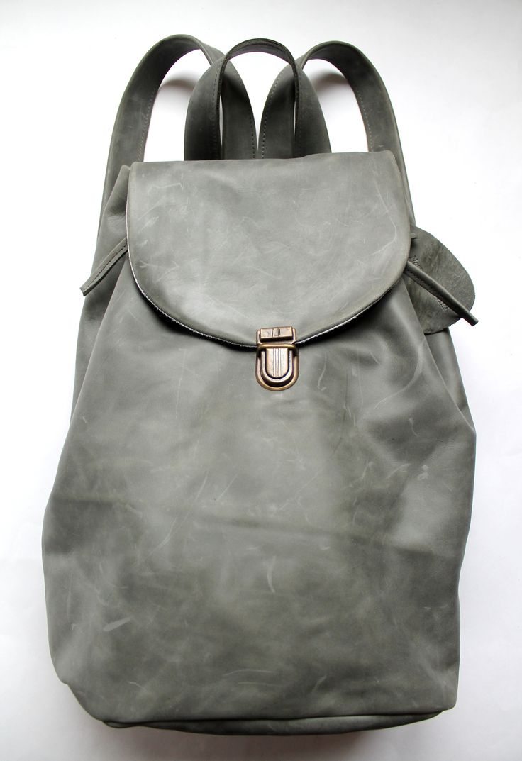 gray leather backpack Backpack Tools