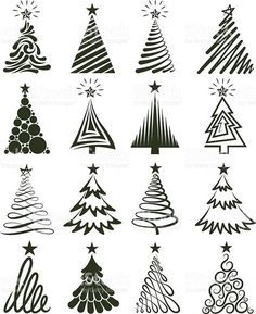 Arbre de Noël Collection d'images vectorielles libres de droits stock vecteur libres de droits libre de droits