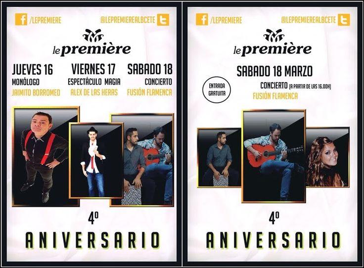 4º ANIVERSARIO DE LE PREMIÈRE  Albacete Aniversario Le Première Noticias Albacete