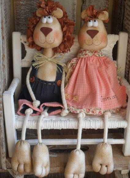 LEÕES   Ideias e Panos Country Dolls    1379E7 - Elo7
