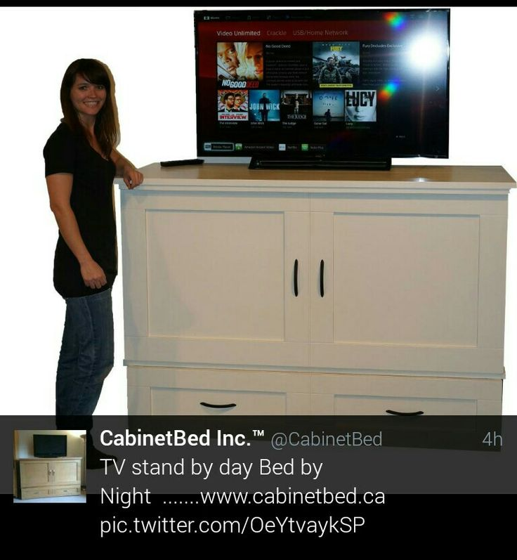 CabinetBed as a TV Stand www.cabinetbed.ca