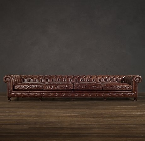 Kensington Leather Couch By Restoration Hardware Finally A Couch Big Enough  For Both Of Us!
