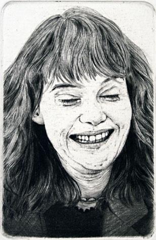 Arne Bendik Sjur. 1986 Portraits XXXIV, 1986. Drypoint.