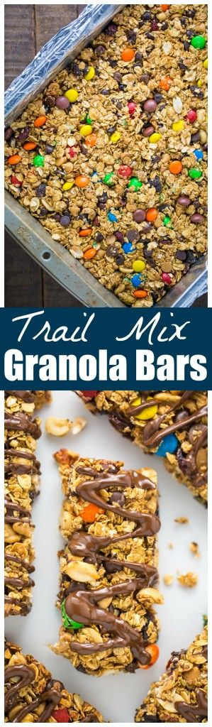 Sweet and Salty Trail Mix Granola Bars! So good we make these once a week.
