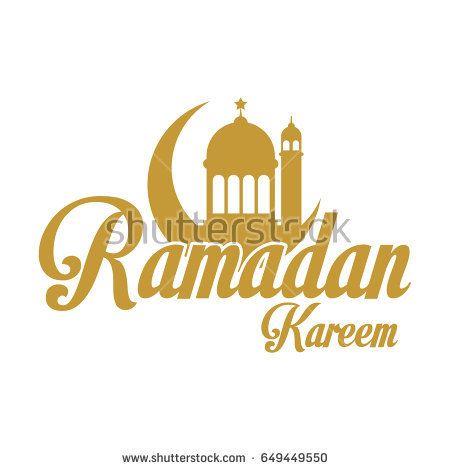 gold ramadan kareem emblem, islamic traditions ramadan kareem month celebration greeting card vector illustration