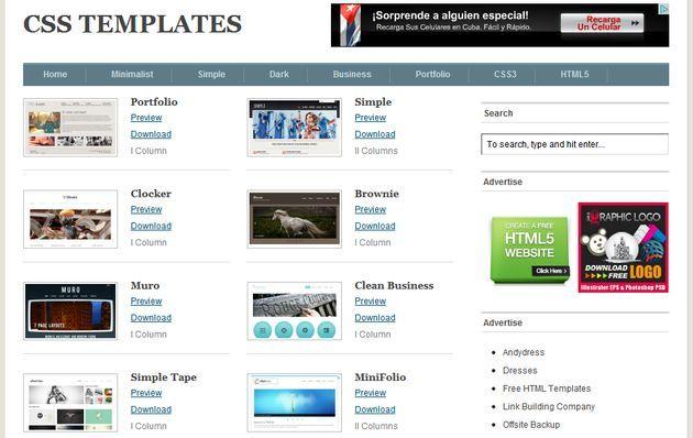 Free CSS Templates: una gran colección gratuita de plantillas CSS, CSS3 y HTML5