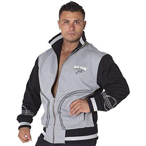 BIG SAM SPORTSWEAR COMPANY Mens Sweatjacket Sweater Sweatshirt Hoodie 3526 S Grey *** For more information, visit image link.