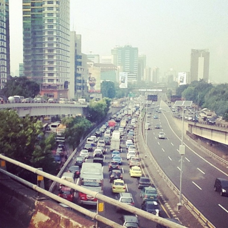 Traffic at Tomang Interchange by Flor Florentina