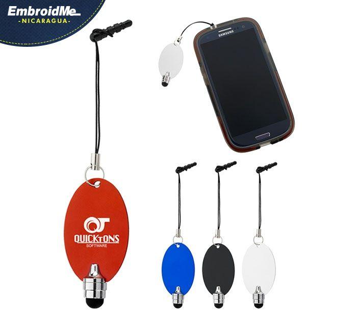 Accesorio para el celular con Stylus para pantallas.  Colores: Rojo,Azul,Negro,Blanco