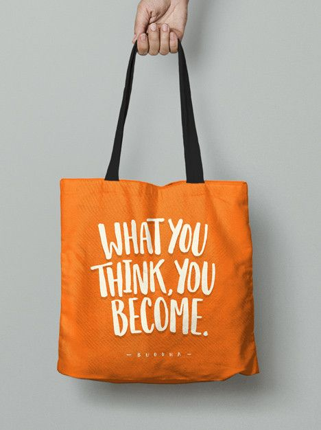Tote Bag - What you think, you become.