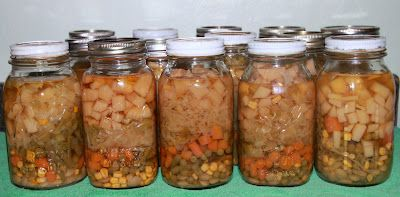 Retirement and Back to the Basics: Canning Vegetable Soup Mix