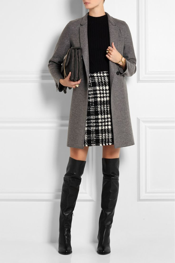Jimmy Choo|Mercer textured-leather over-the-knee boots|NET-A-PORTER.COM