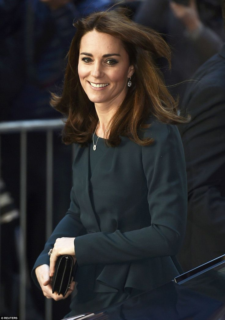 Last night she was the belle of the ball in Princess Diana's glittering tiara and today, Kate, 33, showed off a new hairstyle as she arrived to partake in the charitable day