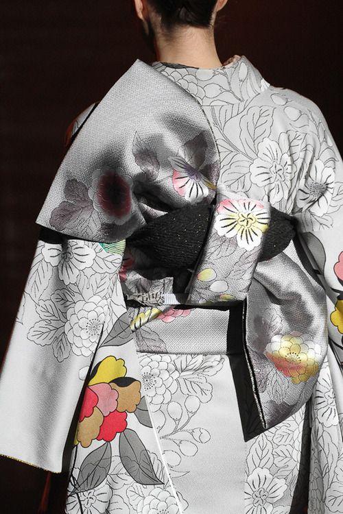JOTARO SAITO 2012-13 / I love the almost monotone color choices in this ensemble. Grey kimono!