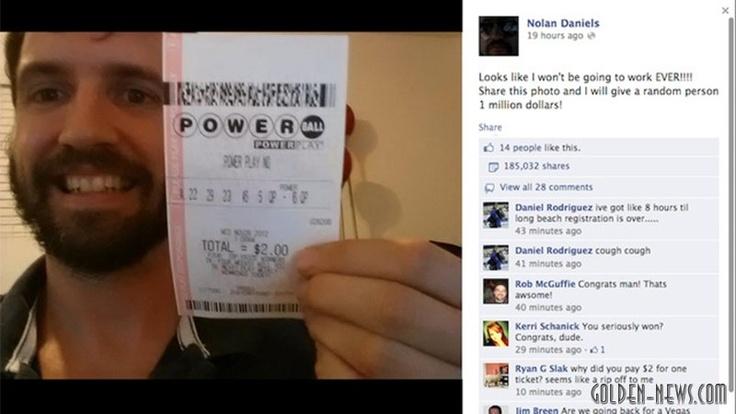 29 октября Соединенные Штаты взбудоражила новость: впервые за 16 лет существования популярной лотереи #Powerball был выигран главный приз — 580 миллионов долларов. Джекпот сорвали два счастливчика из штатов Миссури и Аризона. На следующий день стало известно, что победители из Миссури — 52-летний механик Марк Хилл и его жена Синди. Второй победитель лотереи объявил о себе в тот же день, когда стали известны результаты. Пользователь #Facebook Нолан Дэниэлс опубликовал свое фото с билетом в…