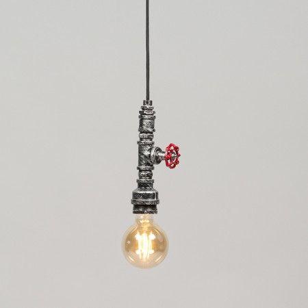 Lámpara colgante OBO negra - plata