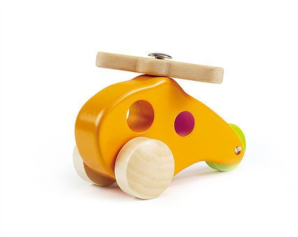 A range of quality wooden cars, dump trucks, boats, planes, trains and a UFO to delight babies and young children