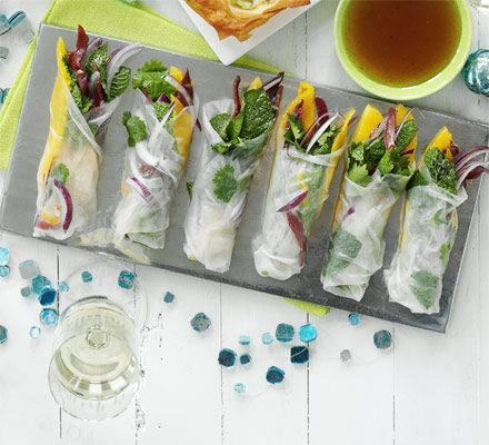 Duck Mango Rice Paper Rolls 12 Rice Paper Wrappers 1 Pack Smoked Duck